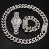 Silver (8inch bracelet+20inch necklace+watch)