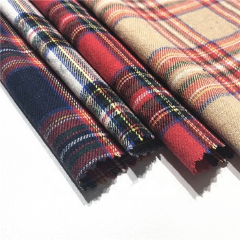 Hot sale cotton woven red tc check plaid fabric