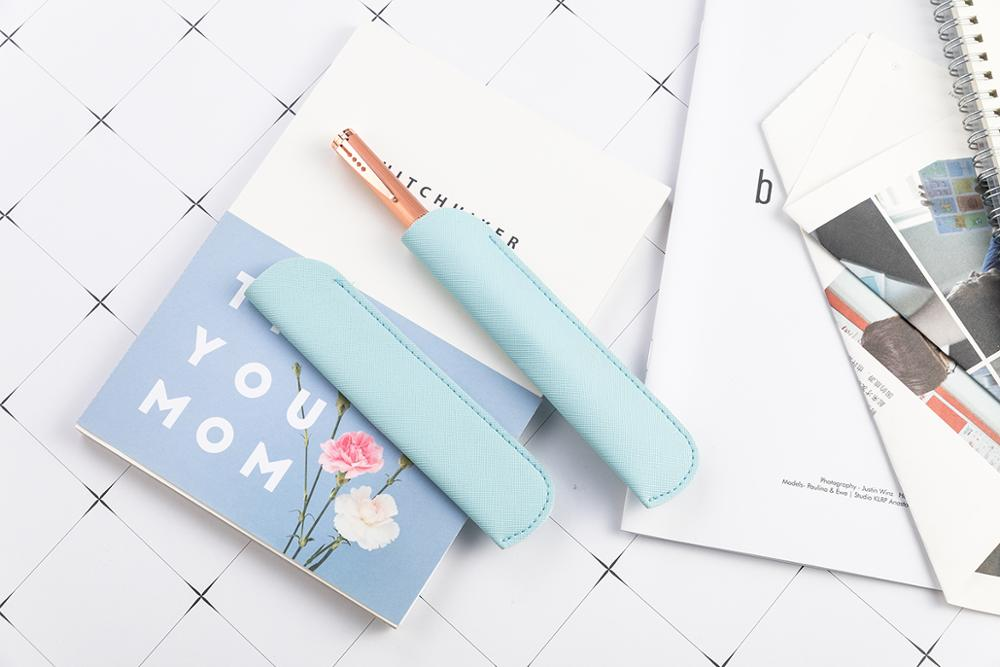 Hot Selling Genuine Leather Student Pen Pencil Case For Promotion