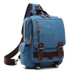 factory wholesale luxury stylish leather men cross body single shoulder strap laptop canvas messenger bag