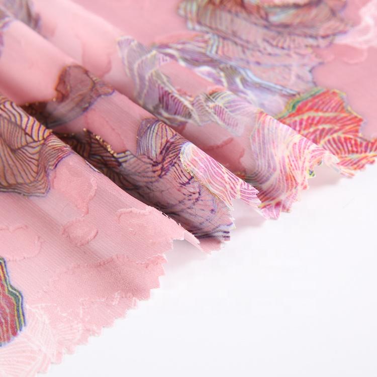Factory price high quality dubai pattern chiffon fabric supplier