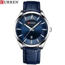 CURREN новые кварцевые часы для мужчин кожаный ремешок мужские наручные часы Топ люксовый бренд бизнес мужские часы Reloj Hombres(Китай)