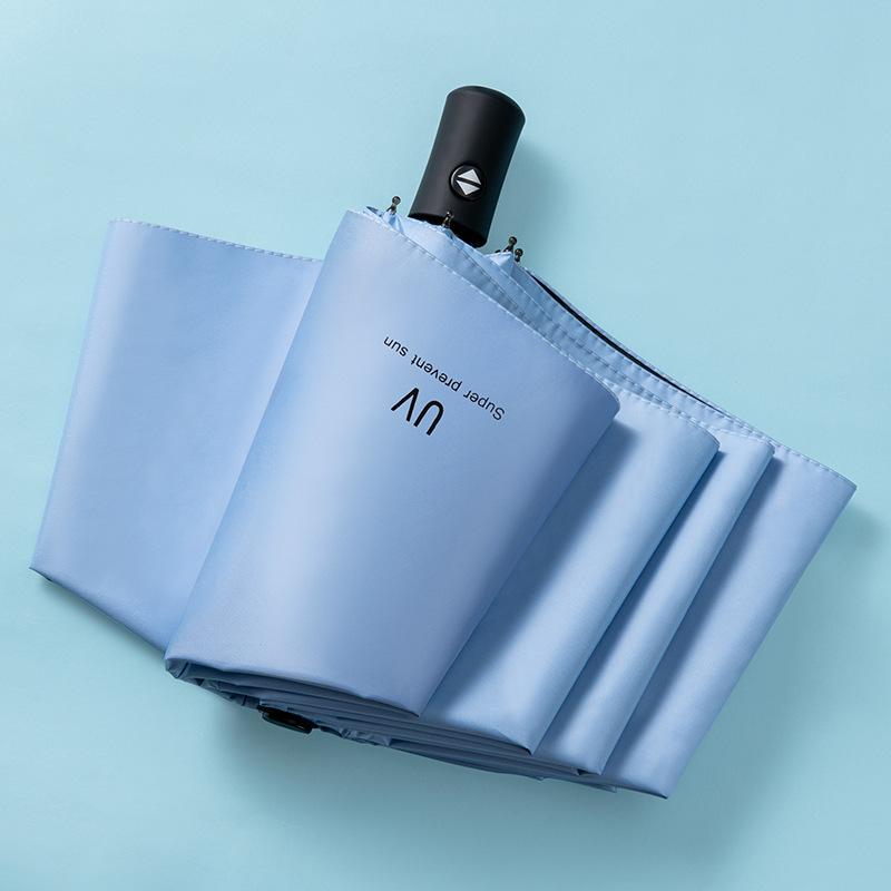 Оптовая продажа, акция, черный маленький складной зонтик с 3 складками, Автоматический Складной Зонтик, зонты с логотипом