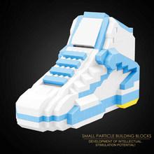 Новое поступление, милая спортивная обувь, строительные блоки, Баскетбольная обувь, кроссовки AJ, Мини Алмазные Кирпичи, набор, модель, игруш...(Китай)