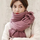 Cashmere Scarfs Scarf Letter Blanket Thick Warm Scarves Imitated Cashmere Ladies Simple Scarfs For Winter