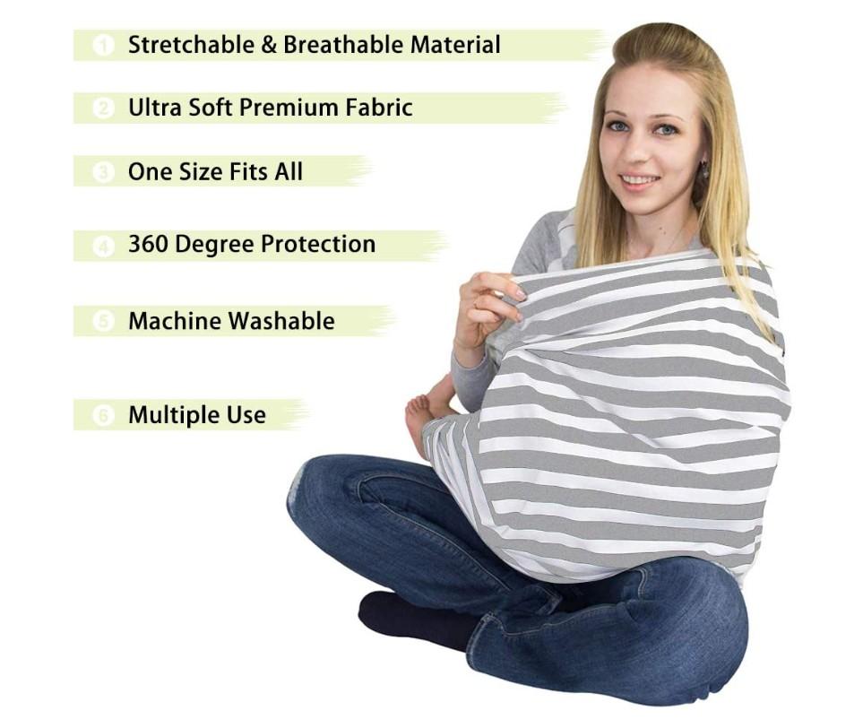 Stretchy Mum Udder Covers breastfeeding Nursing & Car Seat Covers