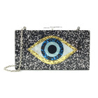 Purses Evening Box Clutch Chain Shoulder Handbag Sequined New Purses Devil Eyes Women Acrylic Evening Party Bags
