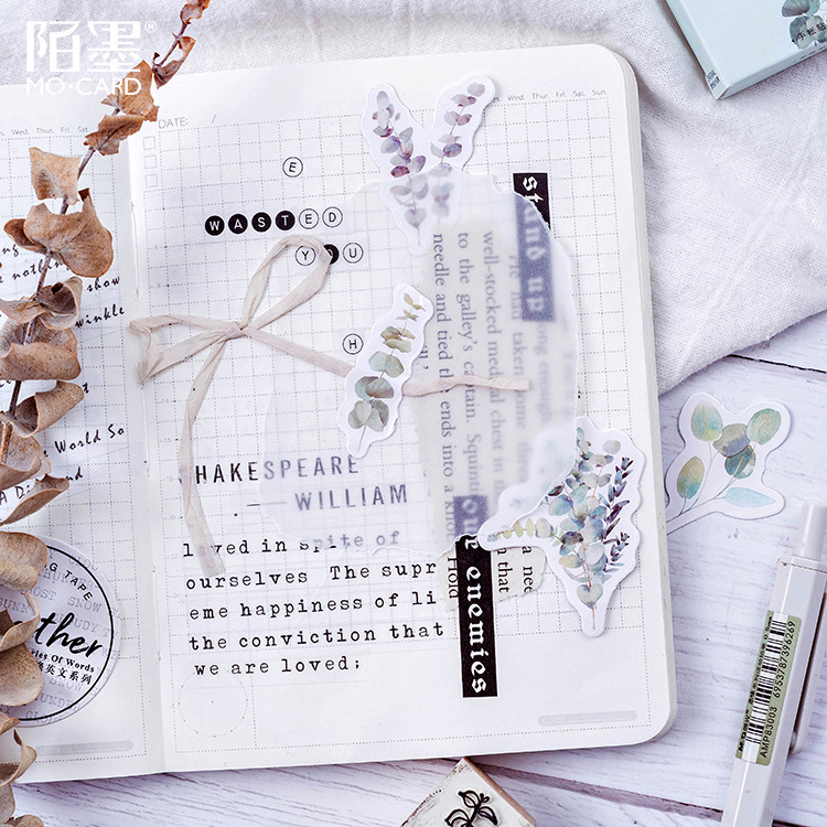 Travel Stickers Vintage Retro Green Plants Flowers Washi Paper Stationery Stickers Decorations Scrapbooking Diary Albums