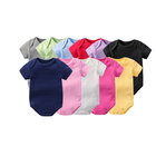 Wholesale cute new born baby clothes 100% cotton soft knit short/long sleeves boutique boys' & girls' plain baby romper