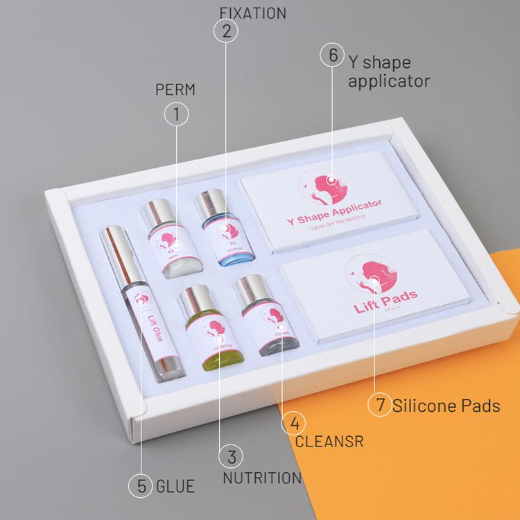 Фирменный набор для перманентной завивки ресниц с кератином, OEM Набор для подтяжки ресниц с инструментами