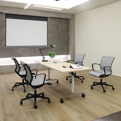 Direct manufacturers supply morden small conference table flexible meeting table desk with wheels