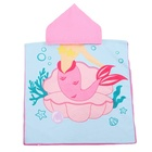 Bath Cape Soft Microfiber Children's Bath Towel Beach Towel Cloak Cape Hooded Bath Towel