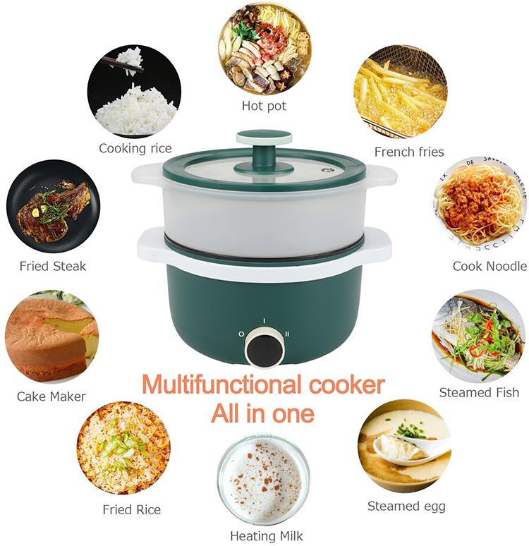 Модная стильная электрическая плита, можно жарить, пароварка, многофункциональная электрическая рисоварка 1,5 л, мультиварка