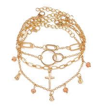 Если вы Бохо Браслет на лодыжку звезда набор для женщин богемный бусина серебряного цвета ножной браслет 2020 цепь с плетением «бабочка» ножн...(Китай)