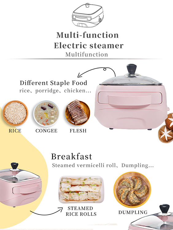 Multifunctional rice steaming pot rice sweet potato fish cake electric steaming nutrition steamer