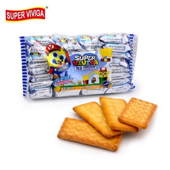 Bag packing cheese flavor milk biscuit factory
