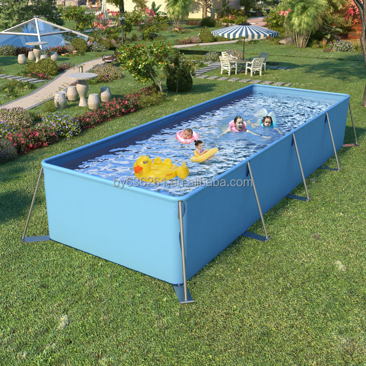 Big Rectangular Frame Swimming Pool For Family Pool Garden Pool Buy Swimming Pool Folding Swimming Pool Fence Big W Swimming Pools Product On Alibaba Com