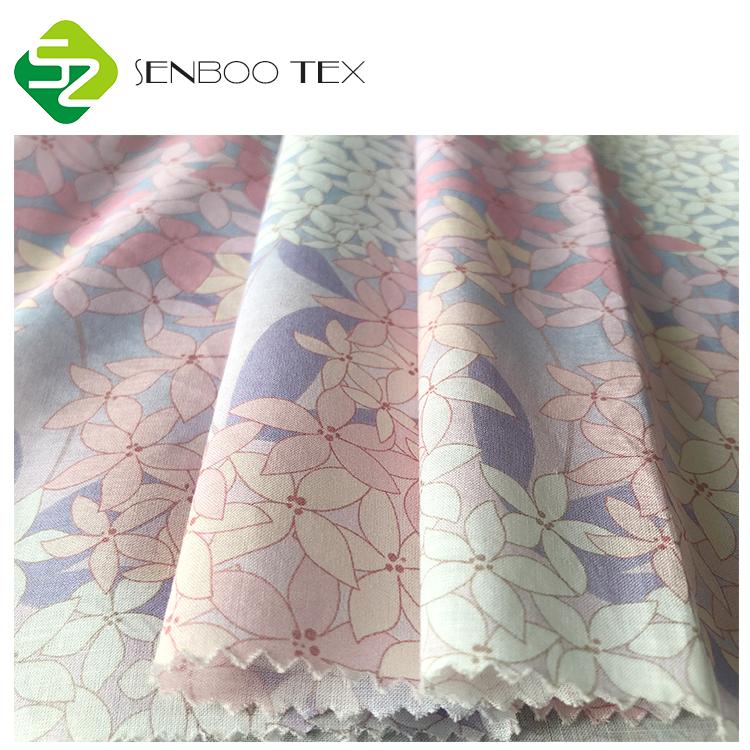 Органическая плотная вуаль из хлопка 90*88 с маленьким цветочным принтом, ткань для детской одежды