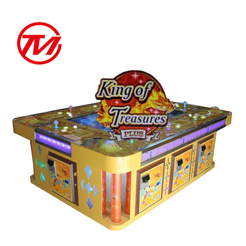 2020 Luxurious 6 Players 32 Inch Coin Operated Fishing Game Machine Table with HD TV LCD Screen King of Treasures