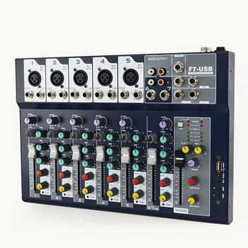 Manchez-F7 Professional stage live studio Karaoke Mini Audio mixer USB sound mixing console DJ KTV Show 7 channels