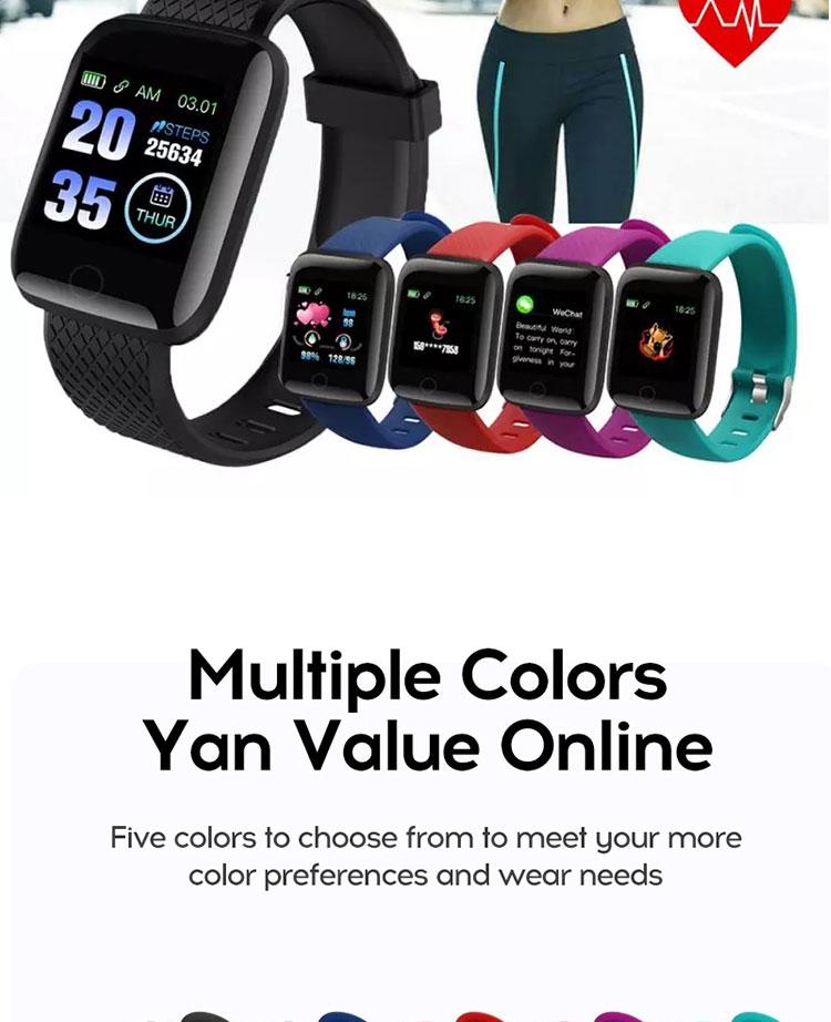 Promotional Smart Watch D116 plus Health Monitor, IP67 Waterproof Intelligent Smart Bracelet For Sports