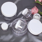 Cream Cream Jar Cosmetic Packaging 50g Clear Empty Cylindrical Cream Jar With White Cap Container Body Cream Cosmetic Packaging