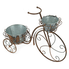 Table Decoration Hengfa Palette Metal Artist Home Table Decoration Rusty Antique Bicycle Bucket Flower Stand