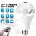 Wireless Mini Light Bulb Camera 360 Degree Wireless IP Camera Bulb Light WiFi Fisheye 1080P 360 Degree Mini Camera 1.3MP Home Security WiFi Panoramic Camera Lamp