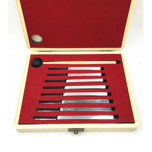 High Quality 8Pcs 256-512HZ Steel Tuning Fork Set for Health Physics Vibration Medical Diagnostic with mallet and wooden box Tun