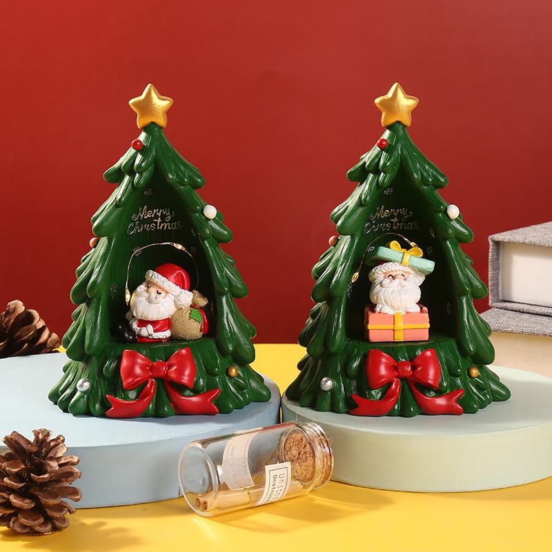 Новый дизайн рождественские смоляные огни для домашнего декора Снеговик Санта Рождественская елка Рождественские огни украшения