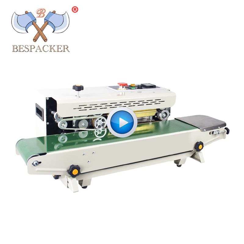 Bespacker FR-900W Automatic continuous plastic bag heat sealer sealing machine for aluminum foil plastic bag
