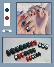 24 шт./компл. довольно закончил стопы ногтей & Клей модные ноги накладные ногти украшения ваших ноготков, накладные ногти ногтей, для маникюра...(Китай)