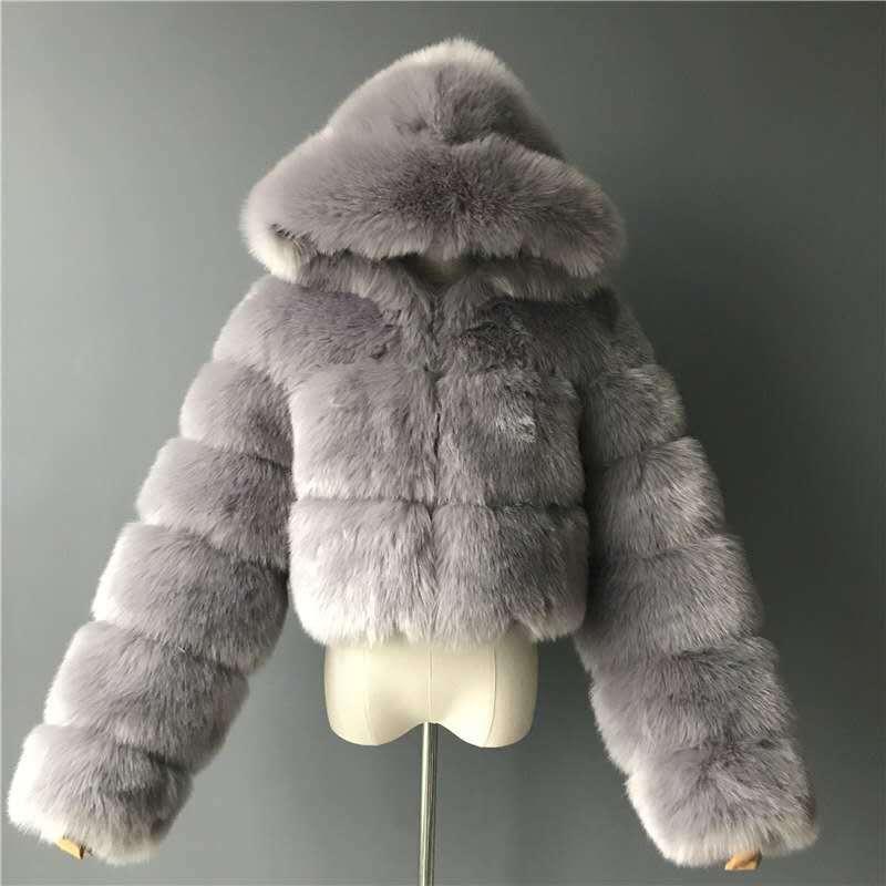 Простая зимняя женская модная пушистая теплая верхняя одежда, шикарное пальто из искусственного меха норки, Лидер продаж, длинное стильное меховое пальто лучшего качества