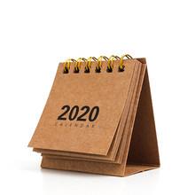 Мини-Настольный календарь «сделай сам», ретро-календарь из крафт-бумаги 2019,09-2020,12(Китай)