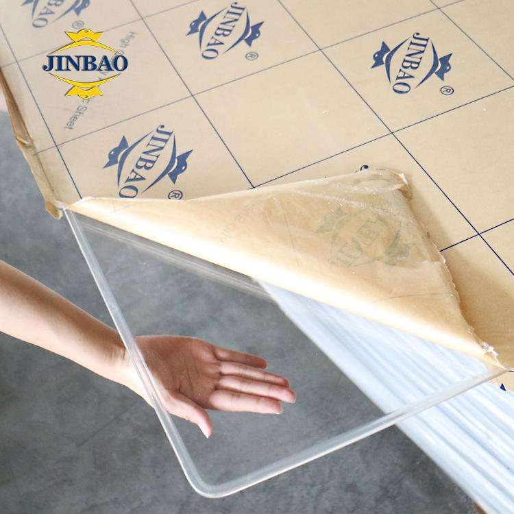 Прозрачный/прозрачный лист JINBAO 4x8 6x8 6x10 футов 2 мм 3 мм acrilyc/persperx pmma