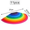 11 pcs bright semi circle