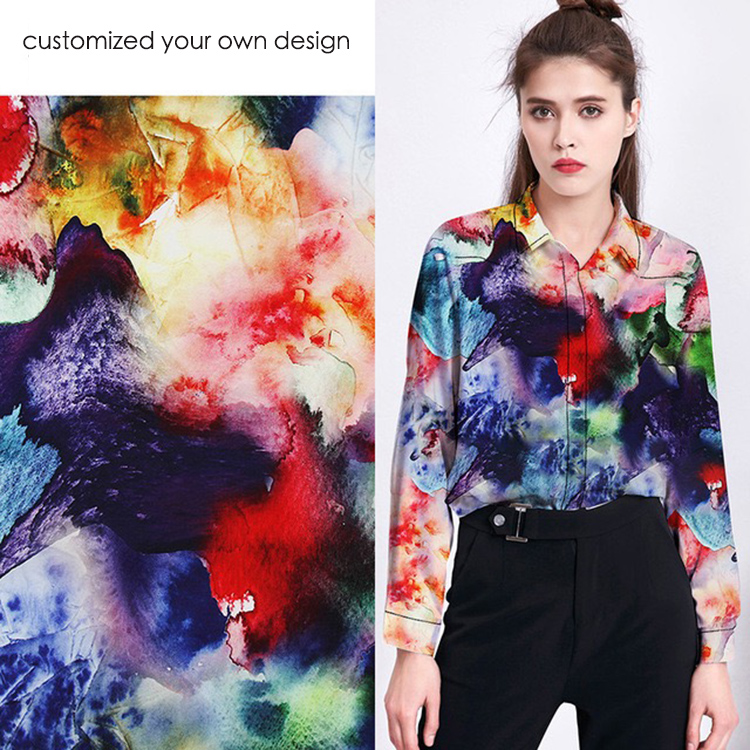 100%Cotton Material and digital printing fabric custom cotton fabric digital print