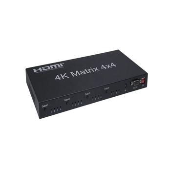 Factory Direct Supply Hdmi Matrix 4x4 4k Support Rs232 Black