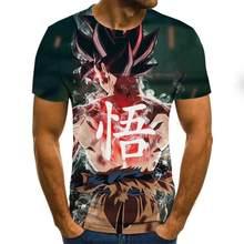 Манга dragon ball z Super Saiyan Son Goku, аниме, лето, 3D принт, 2020, новейшая мода, футболка, Топы, мужчины/мальчики, мультфильм, Повседневная футболка(Китай)