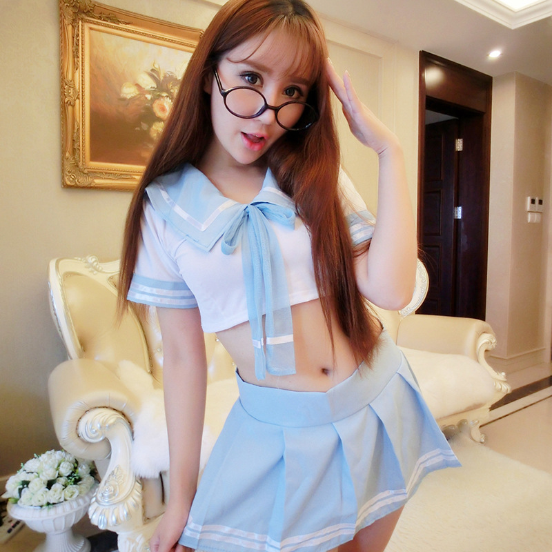 Cheap Disfraz Mujer Sexi 2 pieces set lingerie cosplay japanese adult sexy school girl costumes