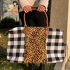 leopard white checkered