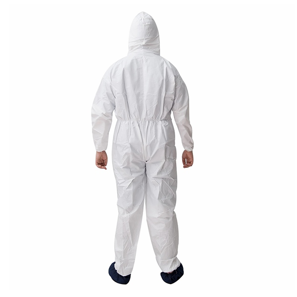 PPE jumpsuit microporous type 5 6 coverall Disposable hazmat suit with hood