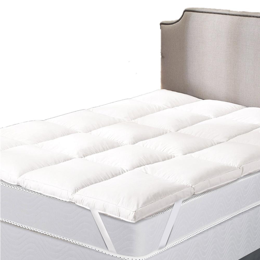 Стеганый протектор матраса для кровати из полиэстера
