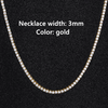 3mm Gold Necklace