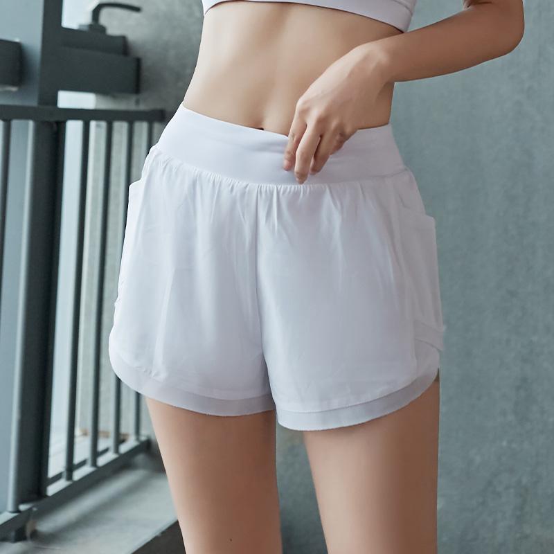 Woman Girls Running Gym High Quality Nylon Sports Shorts Spandex Band 2020 For Custom Fabrics Four Way Stretch Multi