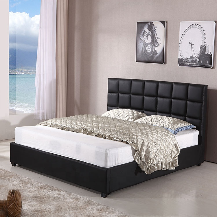 French style black full size kid  children bed double design furniture for kids latest double bed designs with box