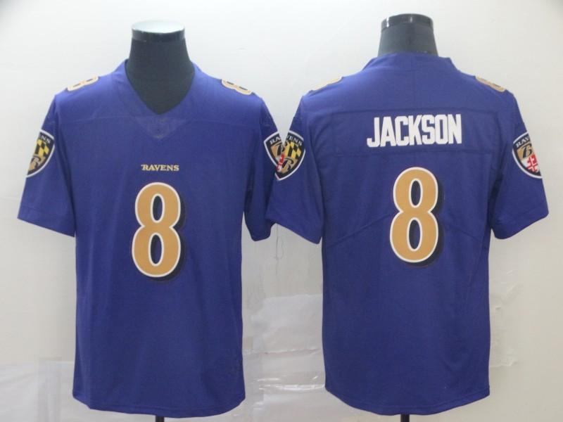 Custom Uniform Personality 8 Lamar Jackson 29 Earl Justin Tucker 21 Soccer Wear short sleeve Football Jerseys