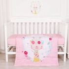 Sheet Cotton Baby Sheets Cute Rabbit Themed Baby Cot Bedding Sheet Set 100% Cotton Bedding Set Girls