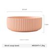 8inch pink soup bowl