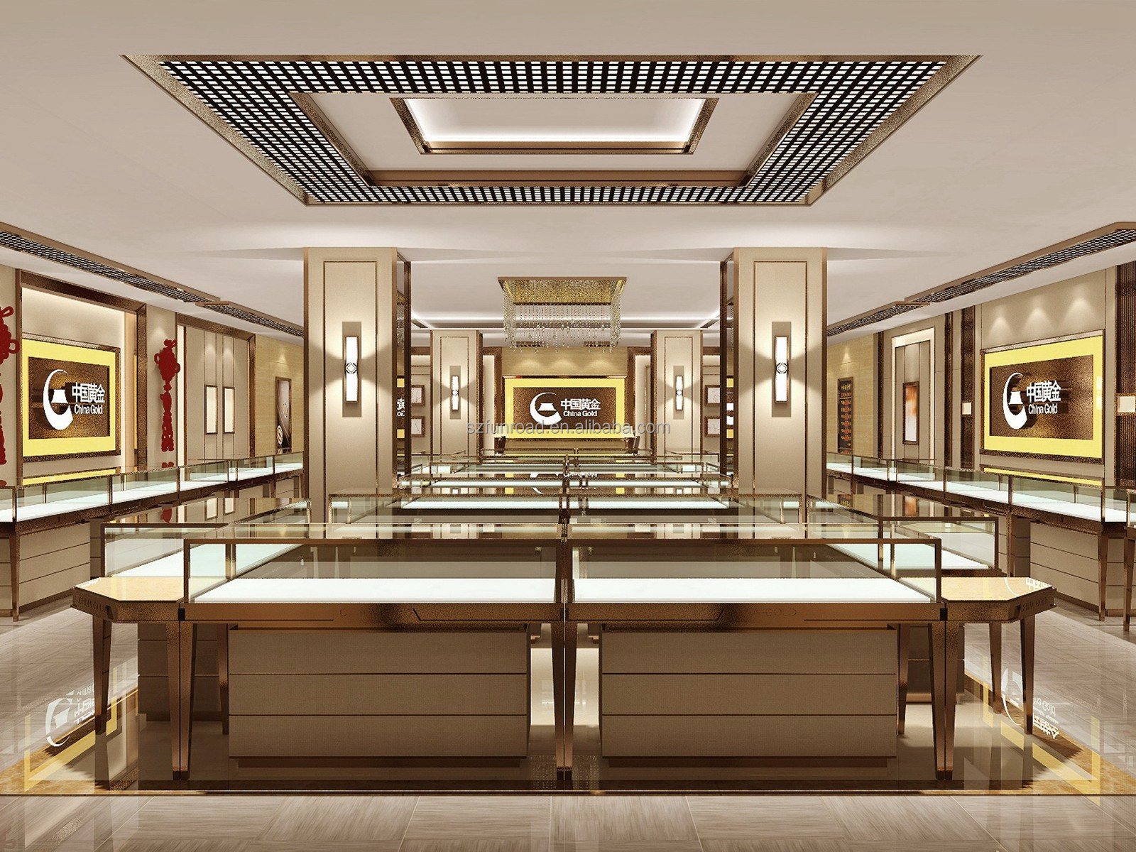 Custom retail store display Jewelry counter display boutique furniture for sale